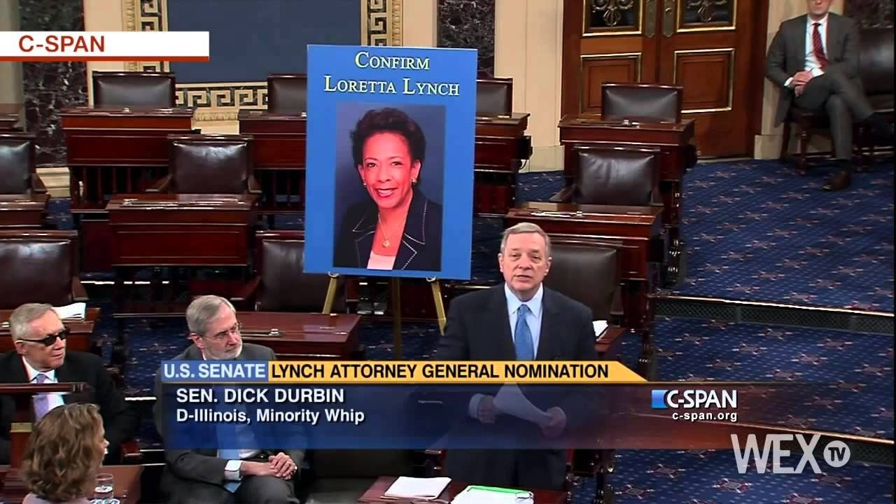 Durbin: Loretta Lynch being asked to sit in the back of the bus