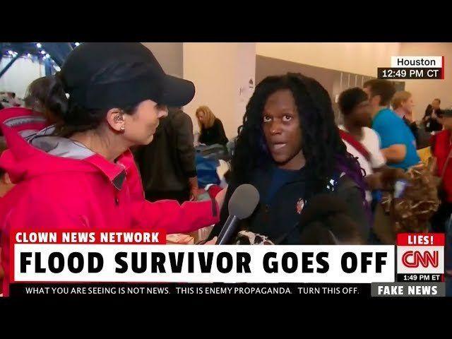 Flood Survivor Goes Off on CNN Scum
