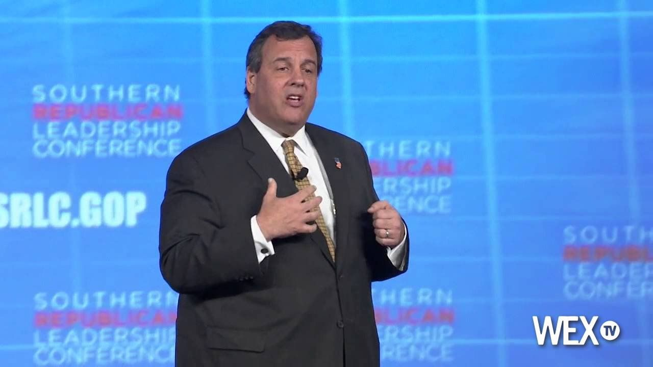 Gov. Chris Christie speaks to the Southern Republican Leadership Conference