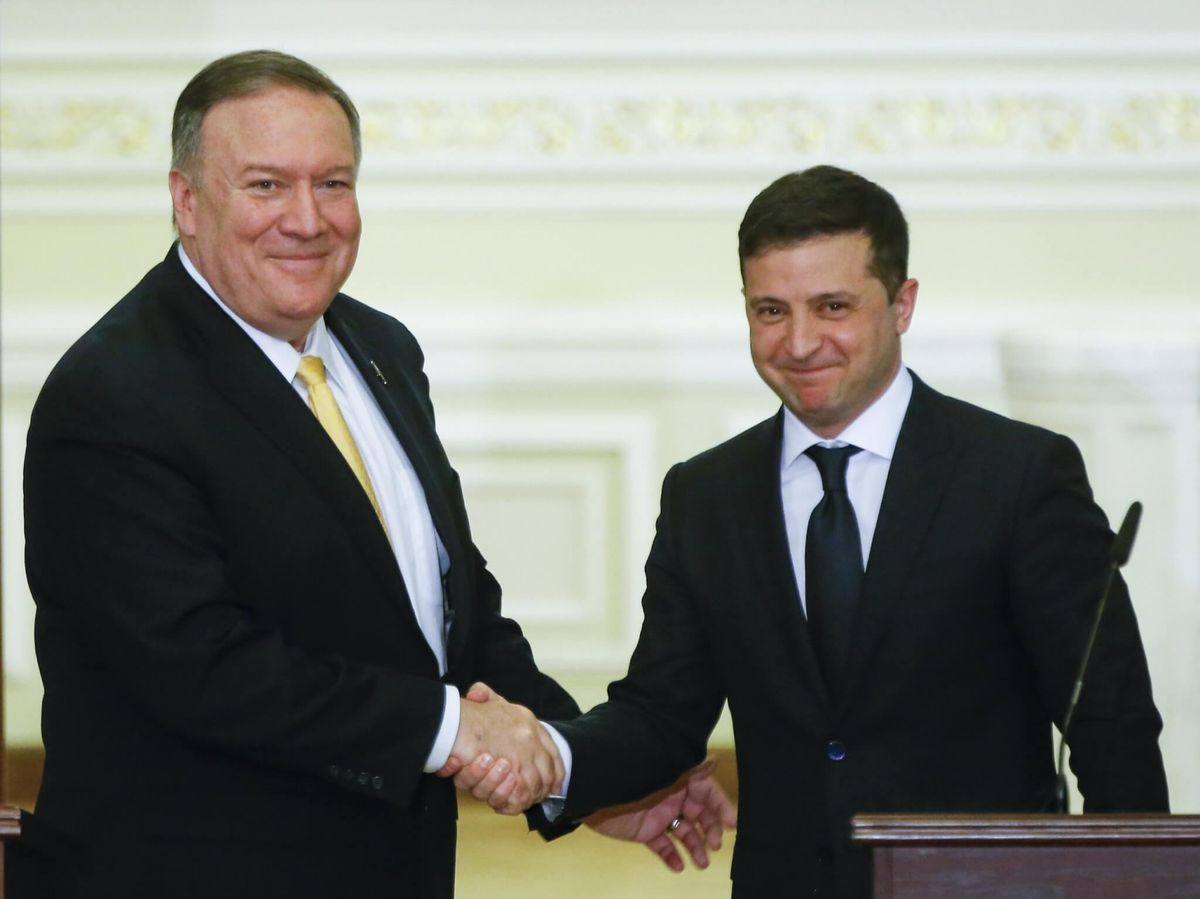 Pompeo Plays Clean-up in Ukraine as Trump Trial Nears End