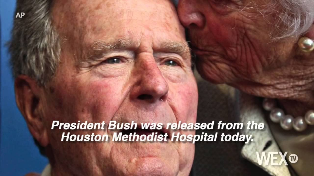 George H.W. Bush released from Houston hospital