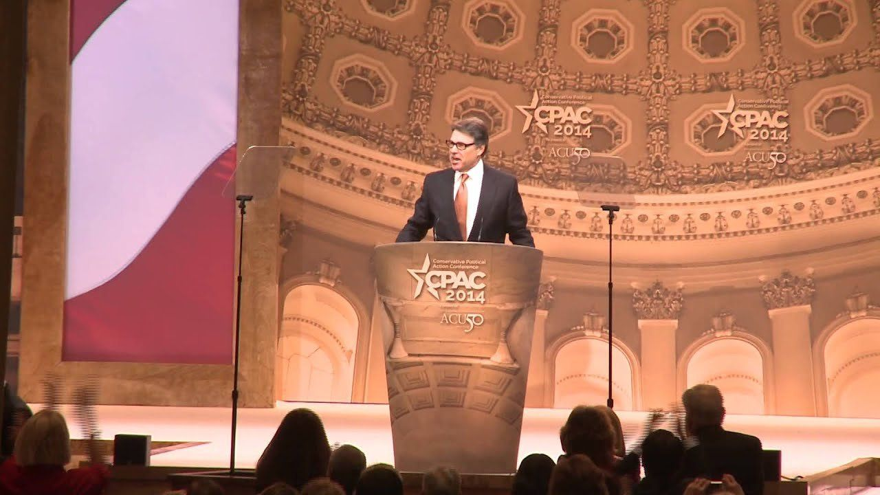 Rick Perry kicks off second day of CPAC with well-received speech