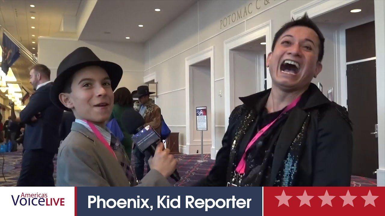 Phoenix Kid Reporter interviews Andre Soriano  CPAC 2019