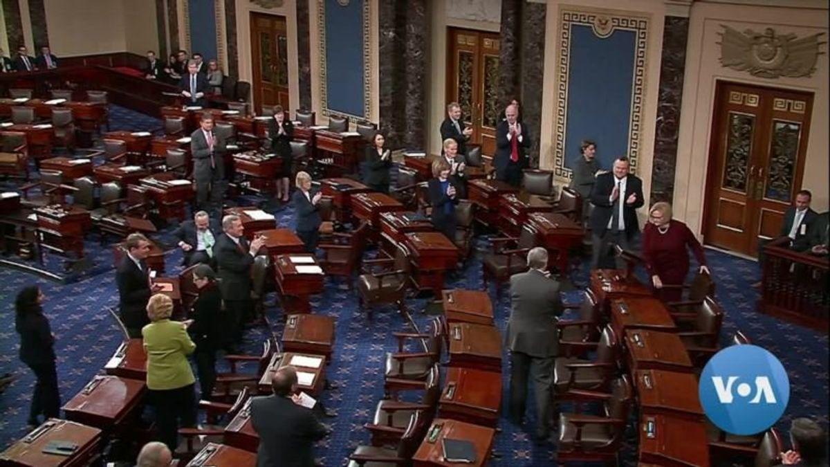Departing Senators Decry America's Toxic Political Discourse