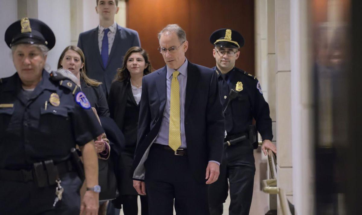 Senior White House Official Testifies Privately in Trump Impeachment Probe