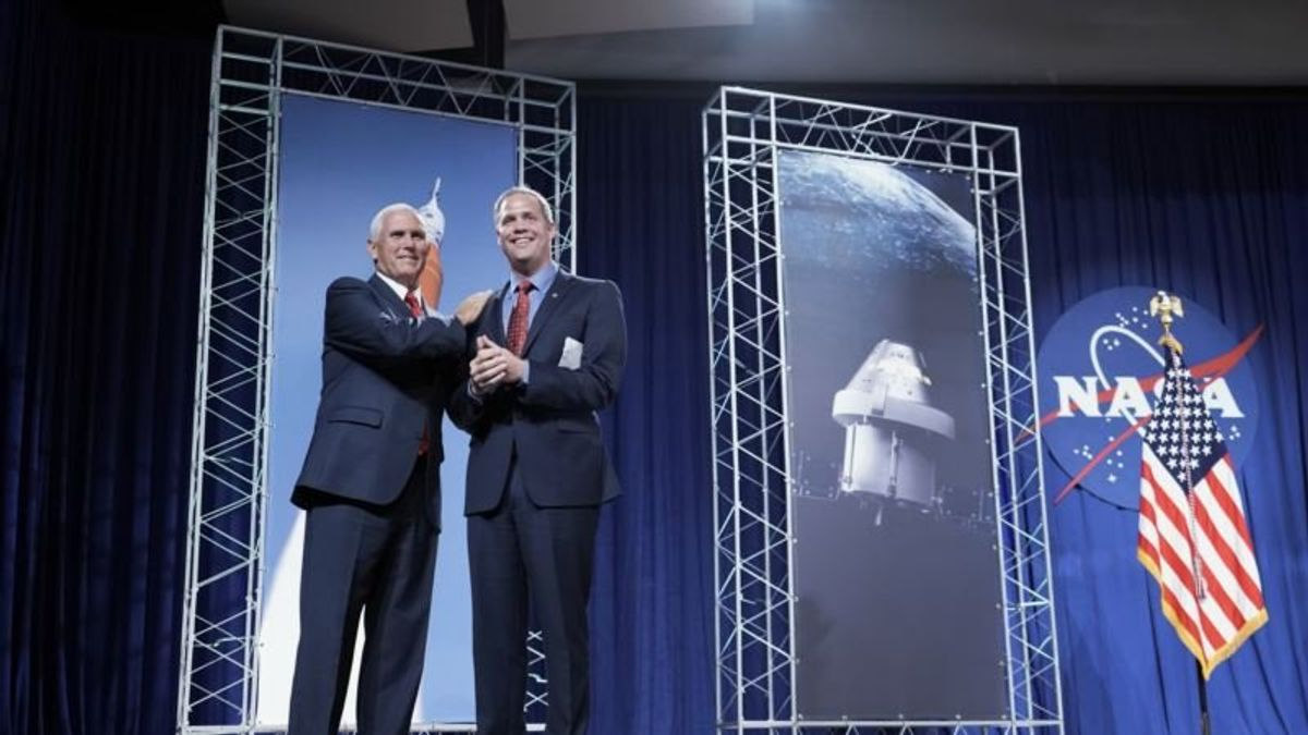 Pence Reaffirms Vision for 'American Dominance in Space'