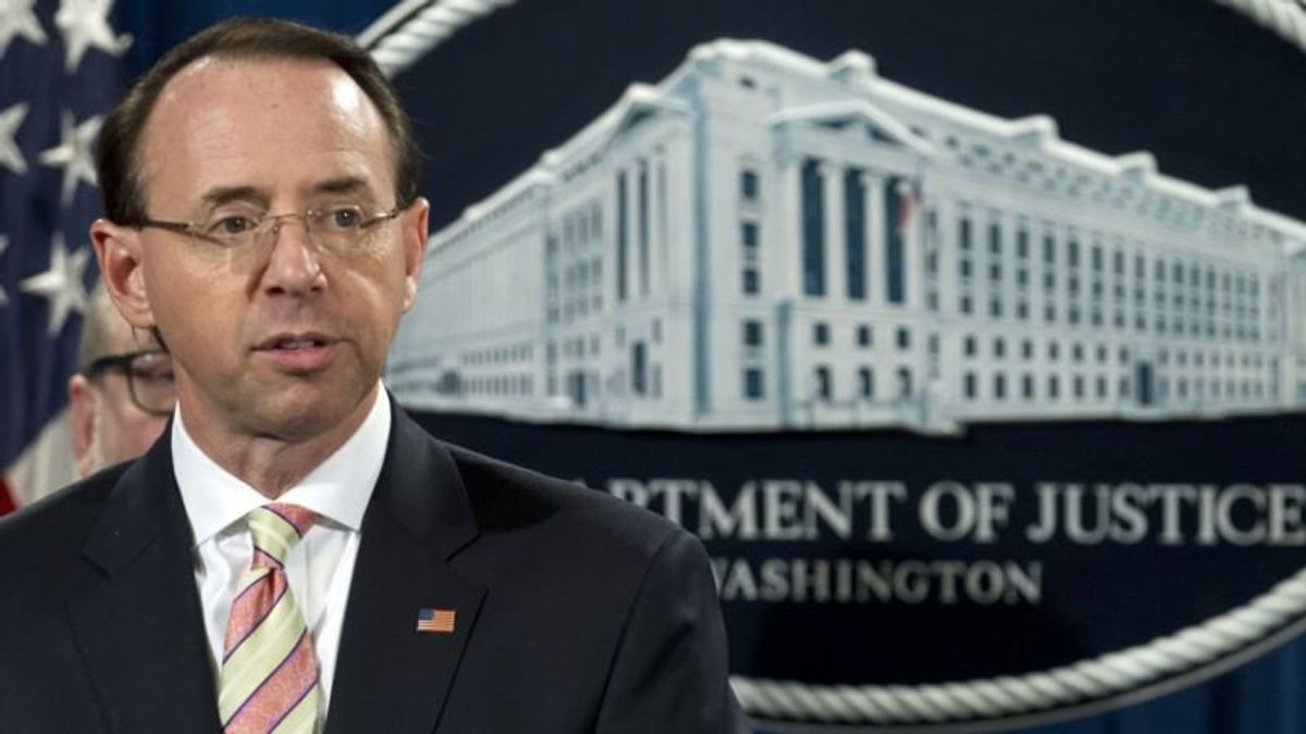 DOJ Official: US Deputy Attorney General Rosenstein to Step Down in March