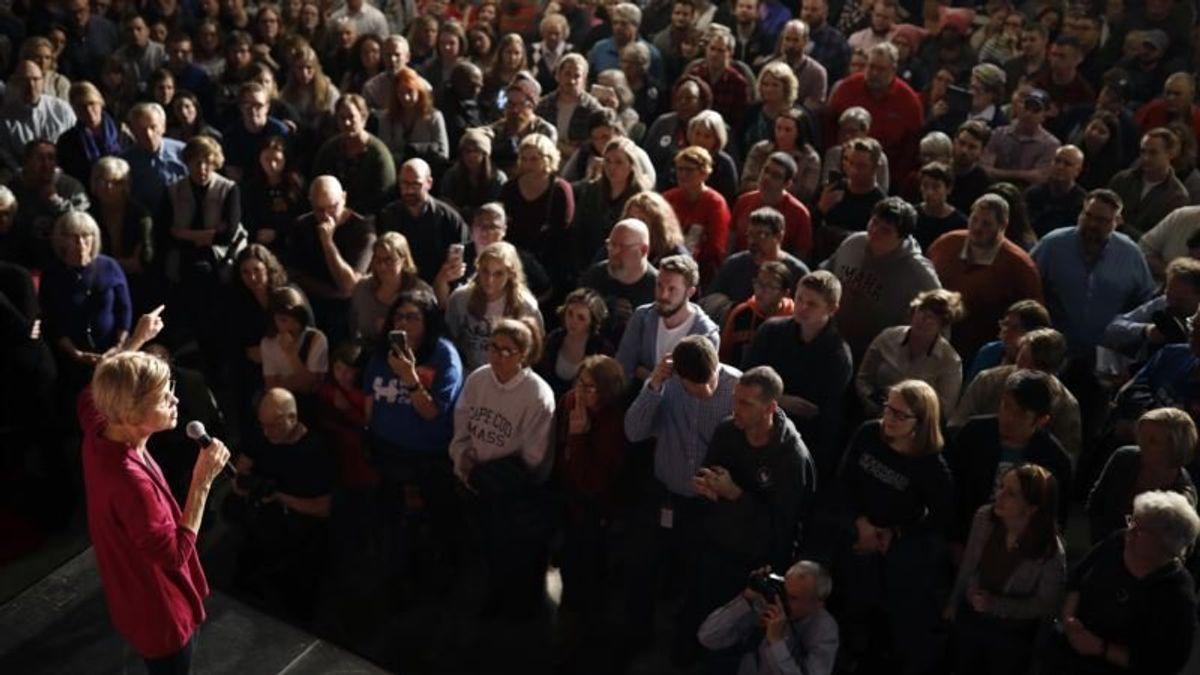 Trump Backer Arrested After Fracas at Warren Rally in Iowa