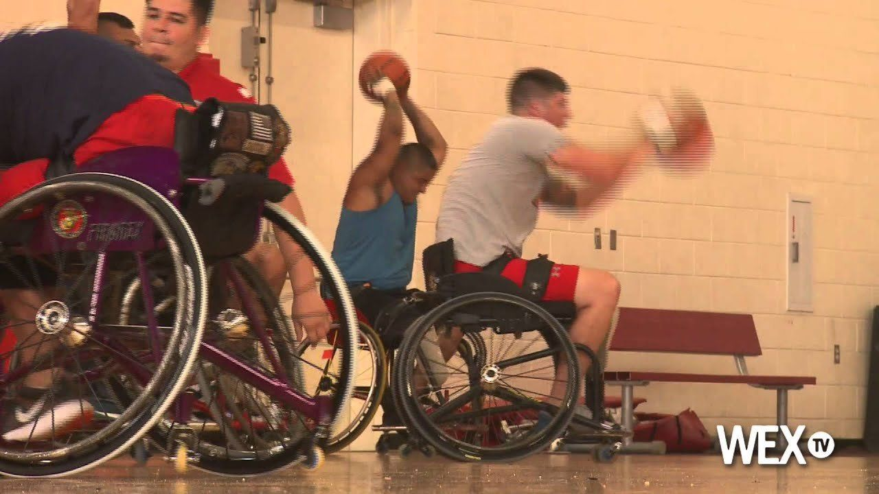 Wounded warriors hit the courts for Warrior Games