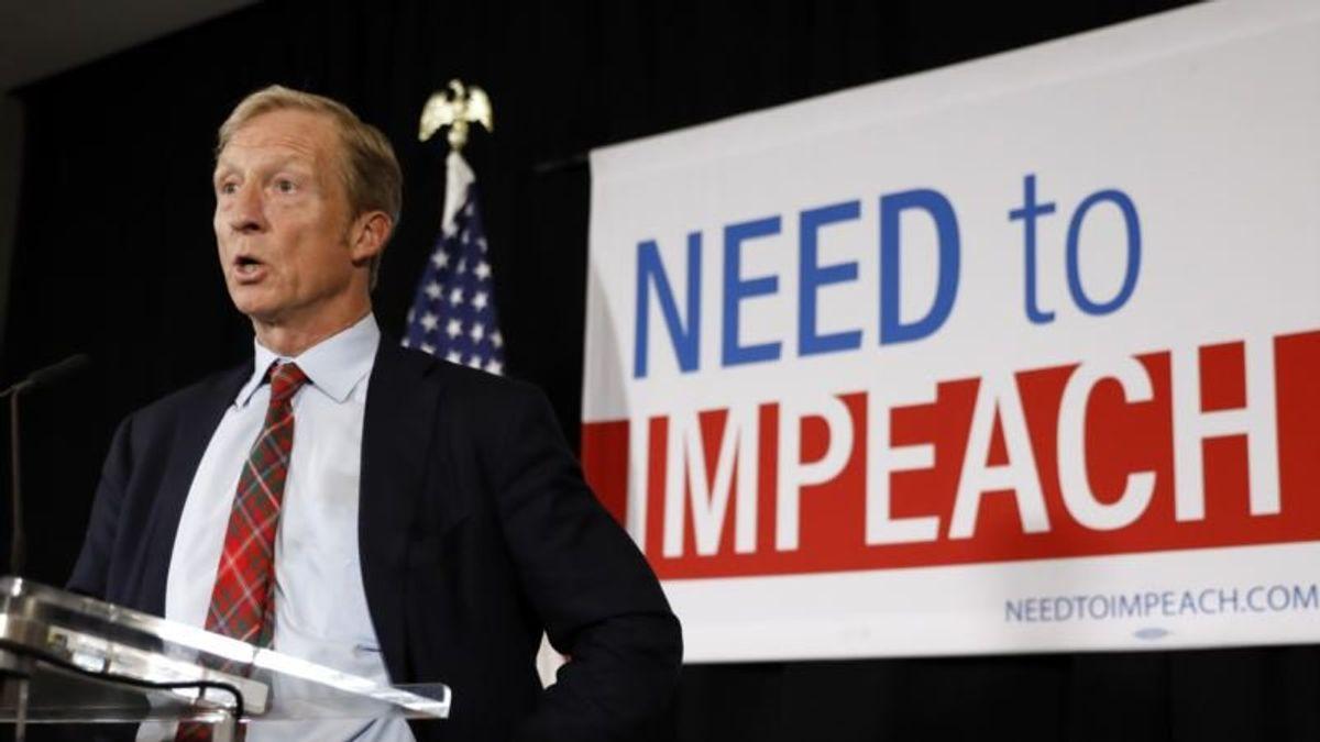 Tom Steyer Won't Run for President, Will Focus on Impeachment