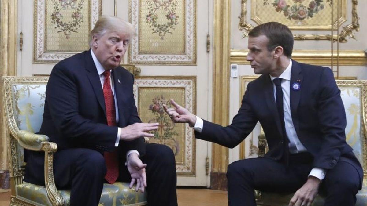 Trump Assails France, Macron