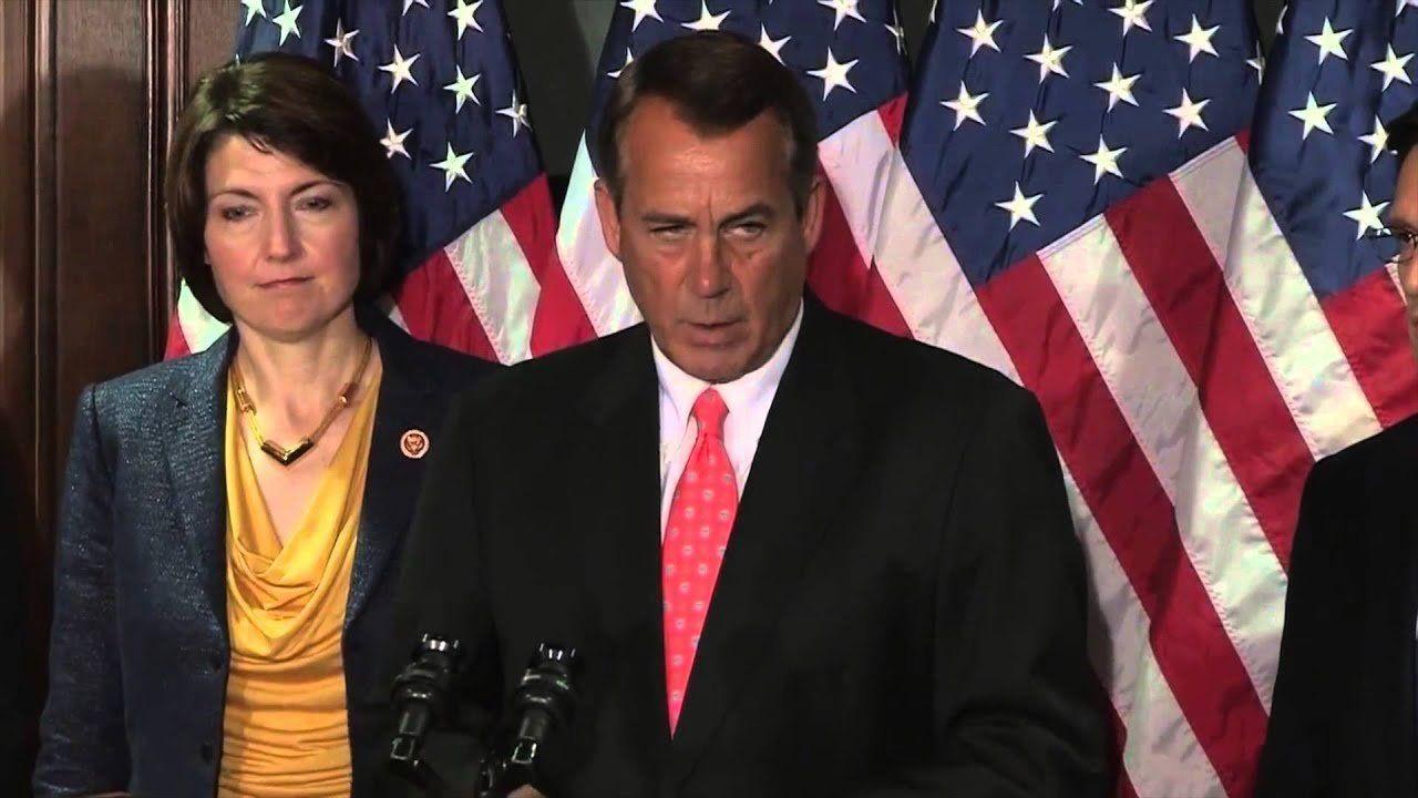 Speaker Boehner Addresses Media Following Boston Marathon