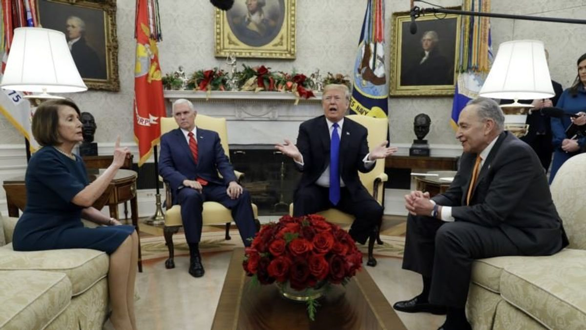 Trump, Democrats Clash in Oval Office