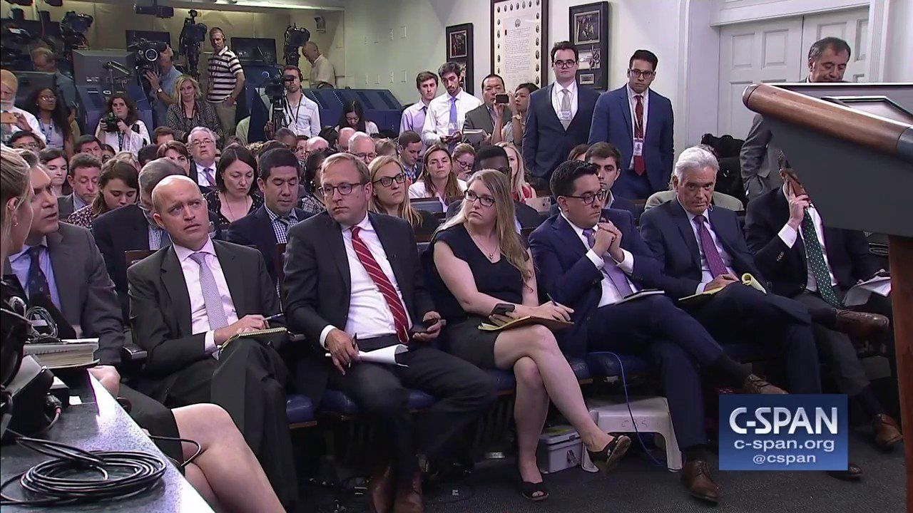 Exchange on whether or not the press is the enemy or the people (C-SPAN)