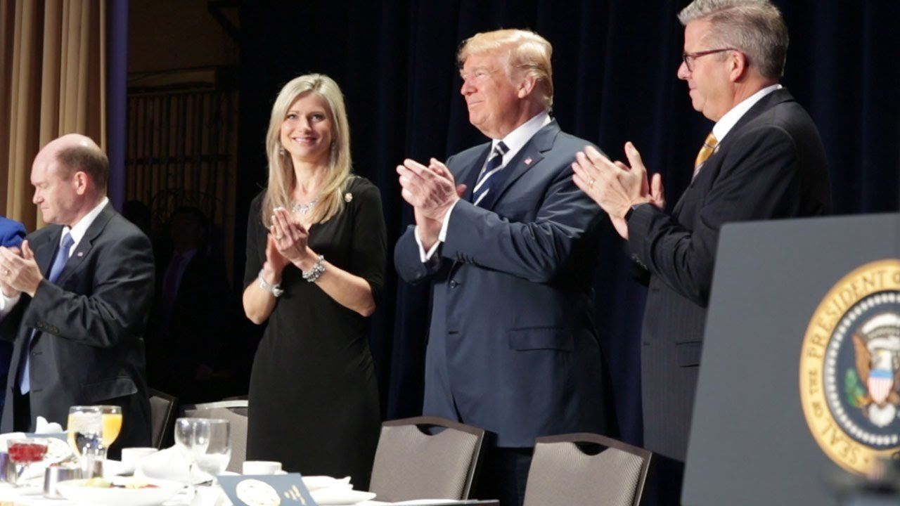 President Donald J. Trump at the 2018 National Prayer Breakfast