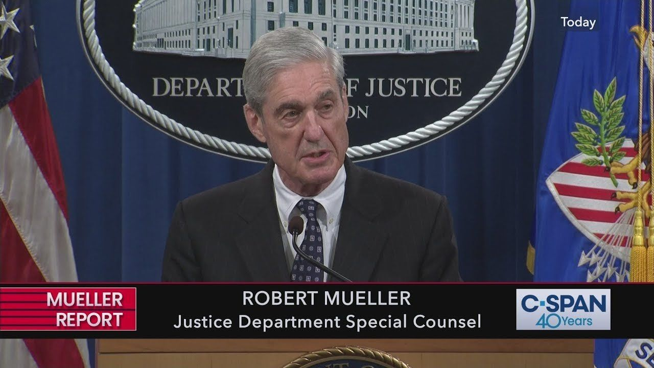 Complete statement from Special Counsel Robert Mueller (C-SPAN)