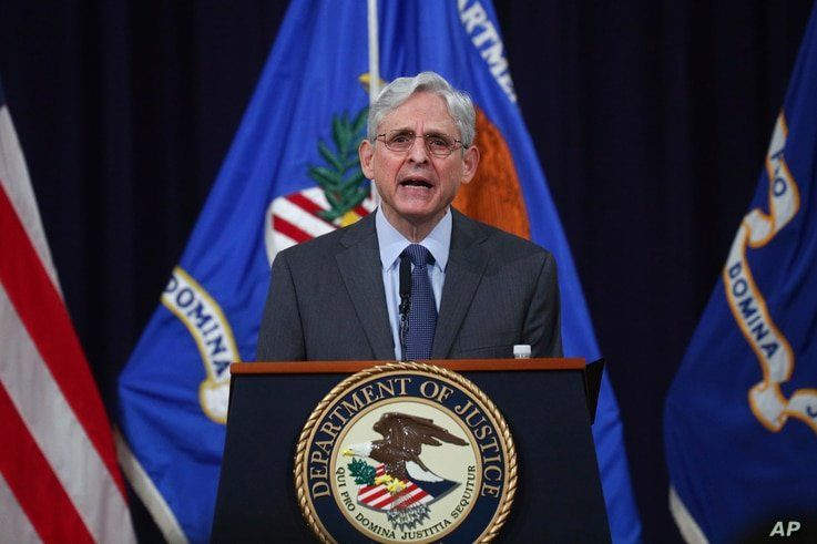 U.S. Attorney General Merrick Garland speaks about voting rights at the Justice Department in Washington, on Friday, June 11,…