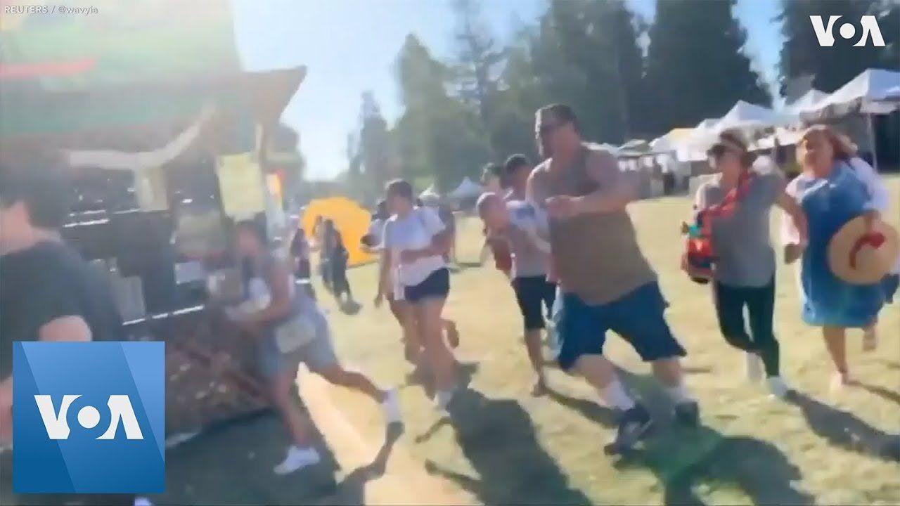 People Flee Following Shooting at California Garlic Festival