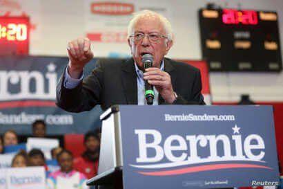 Democratic 2020 U.S. presidential candidate Senator Bernie Sanders rallies with supporters at Winston-Salem State University in Winston-Salem, North Carolina, Feb. 27, 2020.