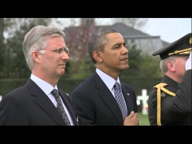 Obama honors American WWI dead in Belgium