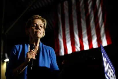 Democratic presidential candidate Sen. Elizabeth Warren, D-Mass., speaks during a primary election night rally, Tuesday, March…