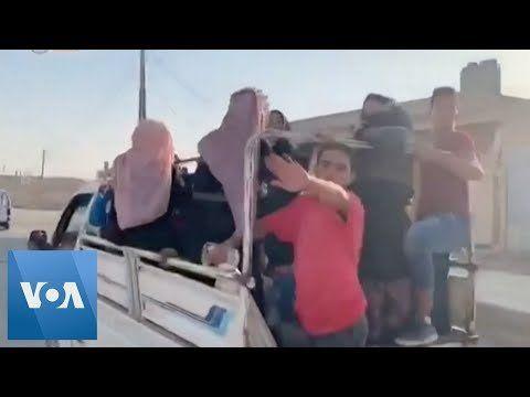 Civilians Flee Syrian Border Towns as Turkish Offensive Begins