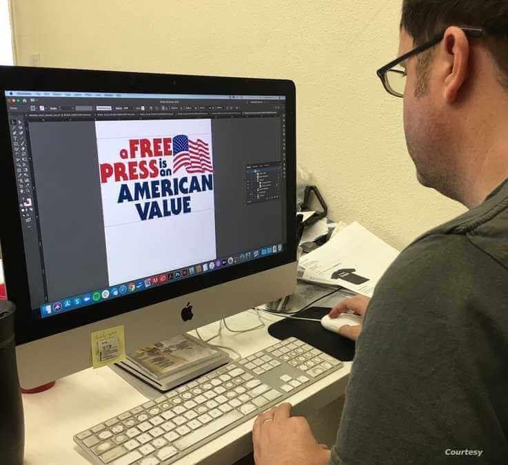 Matt Snow of Boredwalk apparel works on a design. (Photo courtesy Matt Snow)