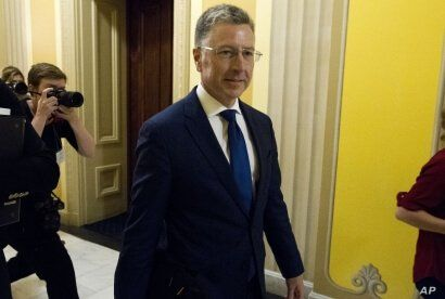 Kurt Volker, a former special envoy to Ukraine, is leaving after a closed-door interview with House investigators as House Democrats proceed with the impeachment investigation of President Donald Trump, at the Capitol in Washington, Oct. 3, 2019.