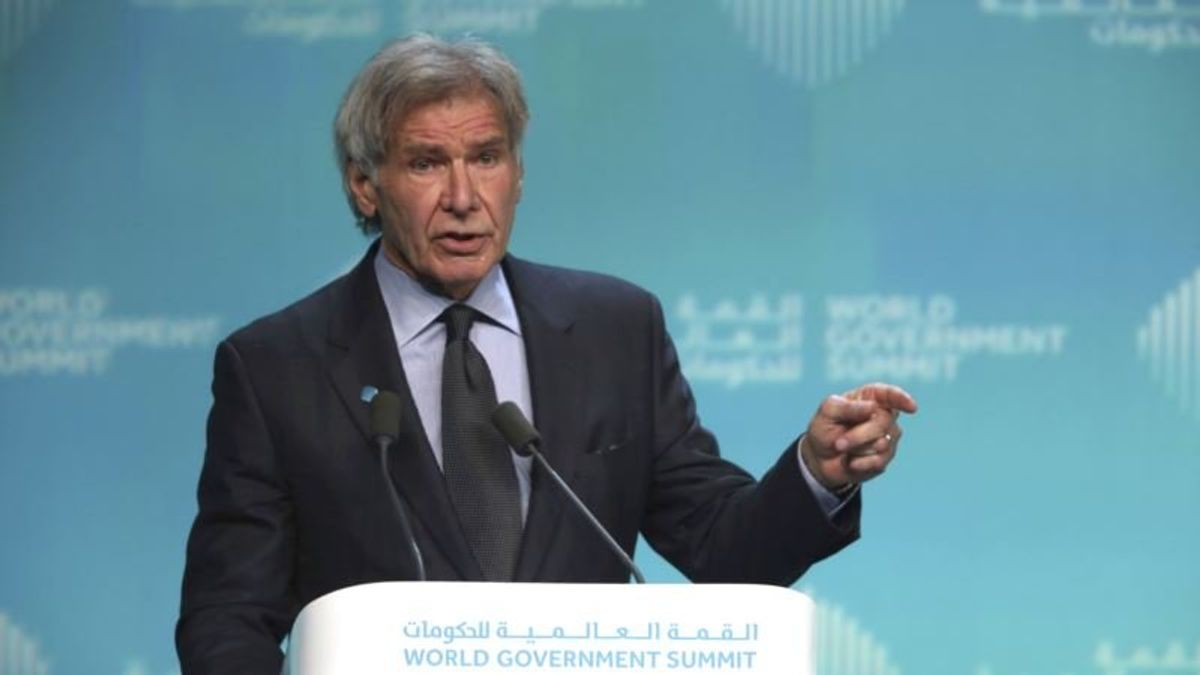 Harrison Ford knocks Trump, Others Who 'Denigrate Science'