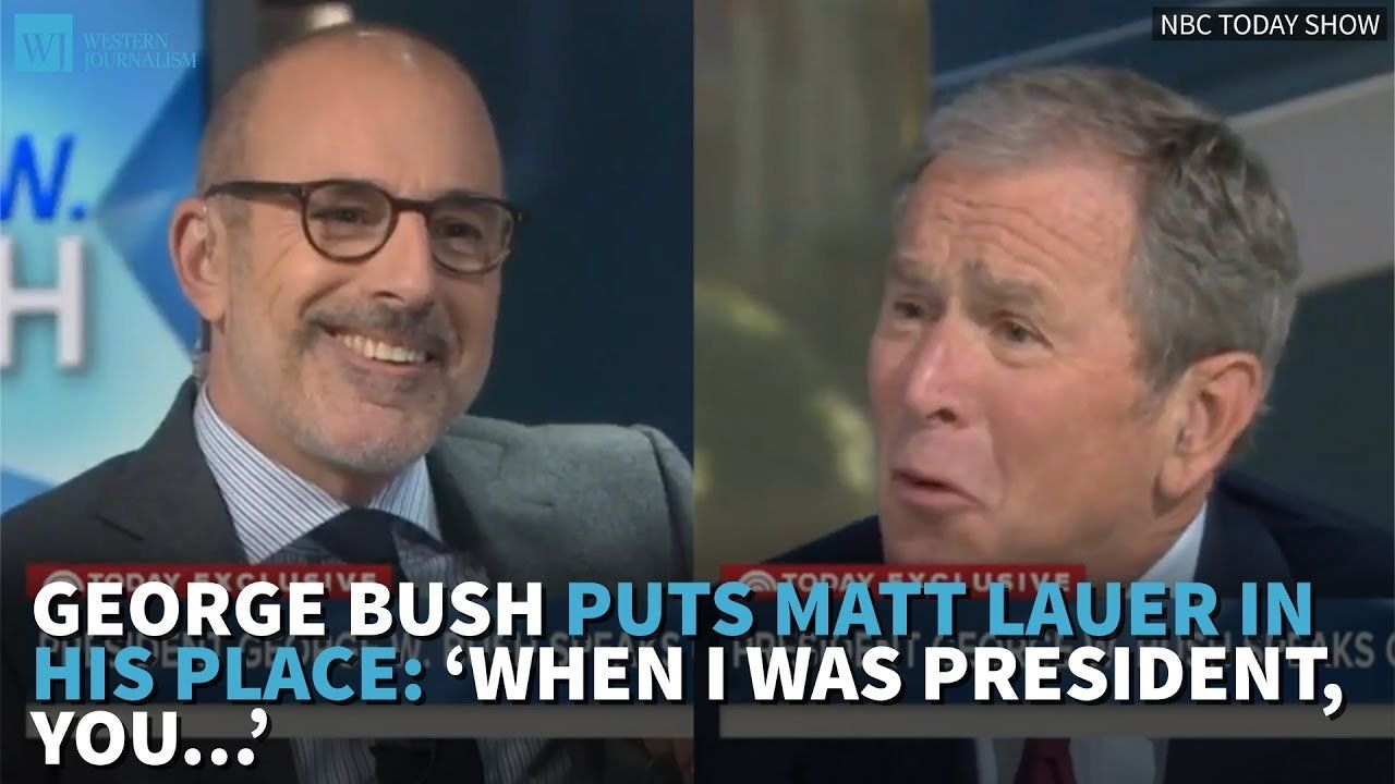 George Bush Puts Matt Lauer In His Place: 'When I Was President, You…'