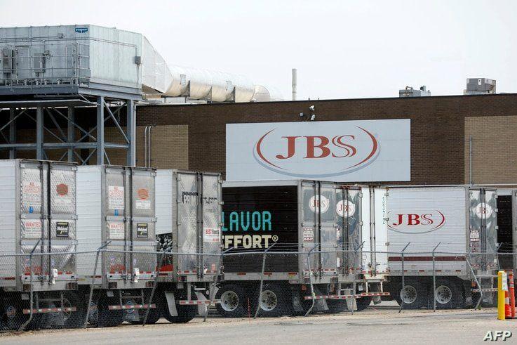 A JBS meatpacking plant is seen in Plainwell, Michigan, June 2, 2021.