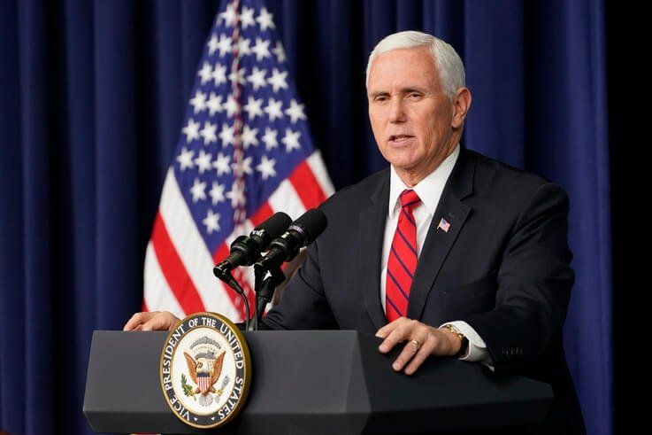 Vice President Mike Pence speaks during a Life Is Winning event in the South Court Auditorium on the White House complex in…