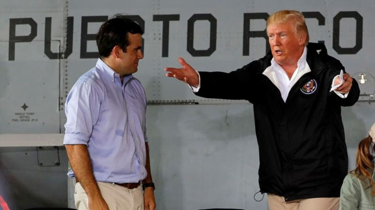 Trump Assails Puerto Rican Leaders for 'Corrupt' Hurricane Recovery