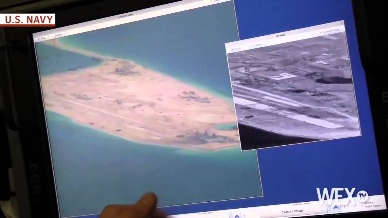 Navy video shows China's man-made islands