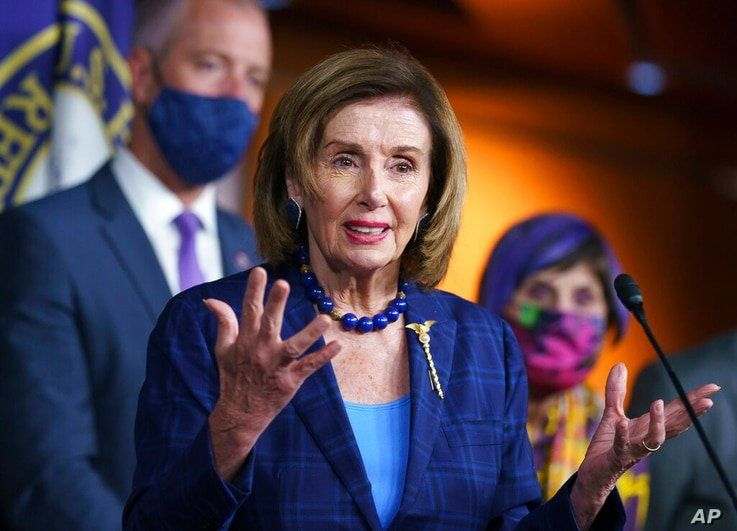 Speaker of the House Nancy Pelosi, D-Calif., and Democratic leaders discuss their legislative agenda, including voting rights,…