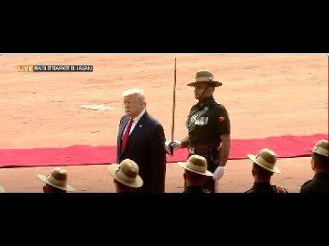 President Trump accorded with ceremonial reception at Rashtrapati Bhavan