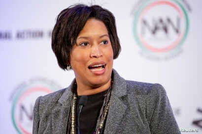D.C. Mayor Muriel Bowser speaks at the annual Martin Luther King, Jr. Day Breakfast hosted by Rev. Al Sharpton and National…