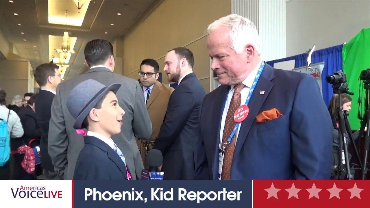 Phoenix Kid Reporter Interviews Lee Murphy CPAC 2019
