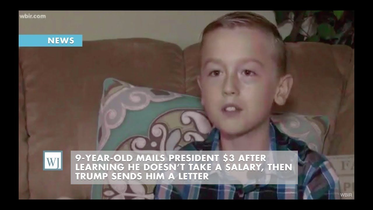 9-Year-Old Mails President $3 After Learning He Doesn't Take a Salary, Then Trump Sends Him a Letter