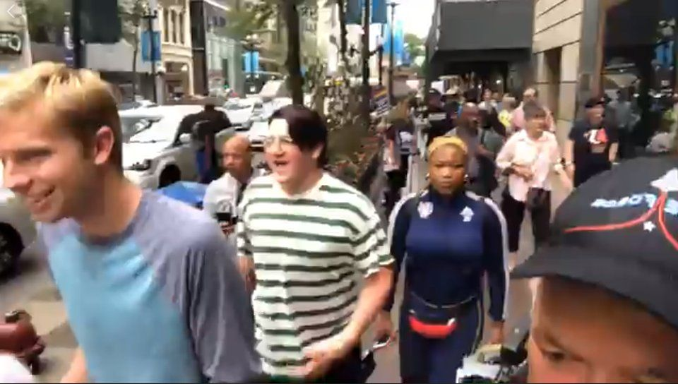 Taiho Decker and Ben Bergquam reporting live for America's Voice News – Chicago pt 2