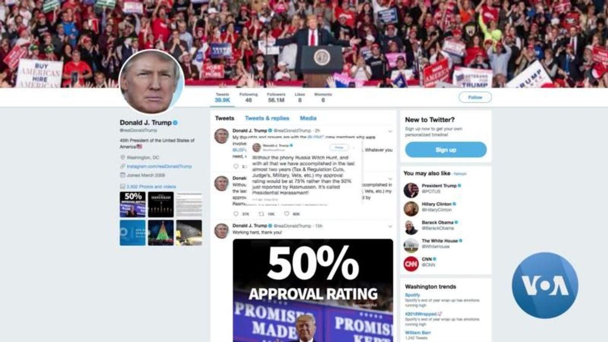 Trump Blames Russia Probe for Weak Poll Ratings