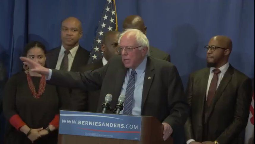 Bernie Sanders visited Rep. Elijah Cummings district in 2015