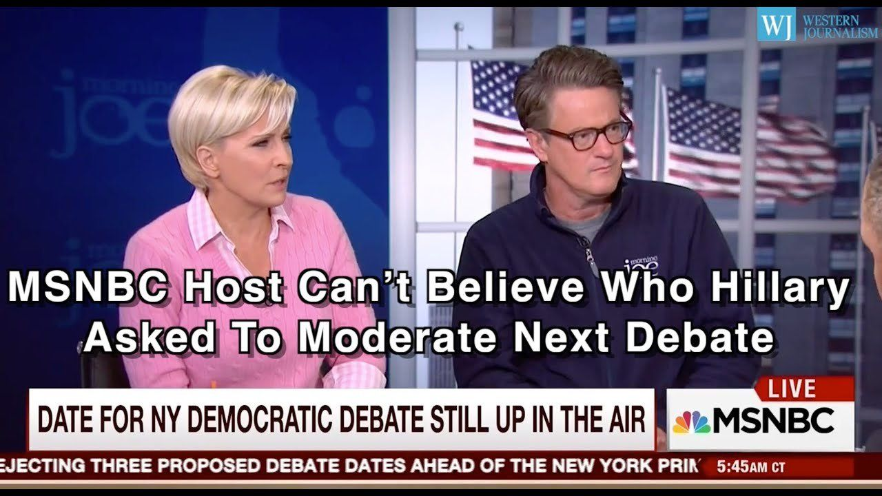 MSNBC Host Can't Believe Who Hillary Asked To Moderate Next Debate
