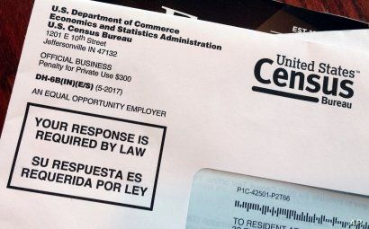 FILE - This March 23, 2018, photo shows an envelope containing a 2018 census letter mailed to a U.S. resident as part of the nation's only test run of the 2020 Census.