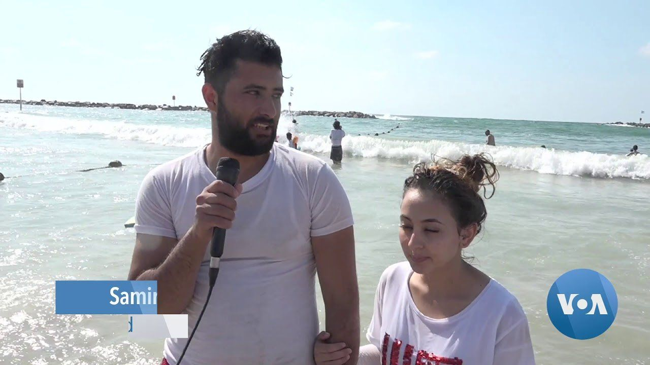 Israeli Volunteers Bring Palestinians for Their First Beach Experience