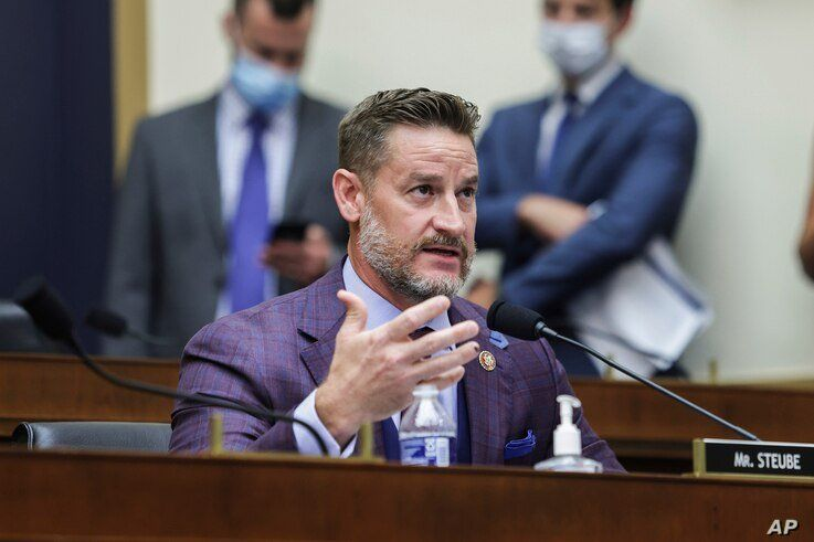 Rep. Greg Steube, R-Fla, speaks during a House Judiciary subcommittee hearing on Capitol Hill on July 29, 2020 in Washington.