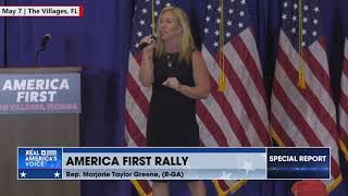 Marjorie Taylor Greene has a message for Democrats & The Media who are attacking patriotic Americans