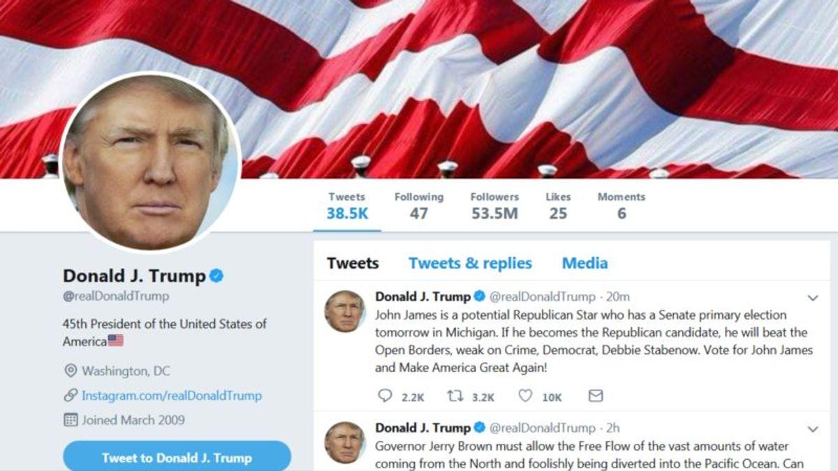 Trump's Twitter Attacks Threaten to Overshadow Economic Message