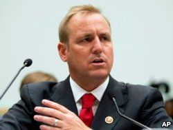 FILE - Rep. Jeff Denham, R-Calif., testifies at a hearing on Capitol Hill in Washington, July 23, 2013. Denham has gathered nearly 50 GOP co-sponsors on an effort to hold votes on four immigration bills.