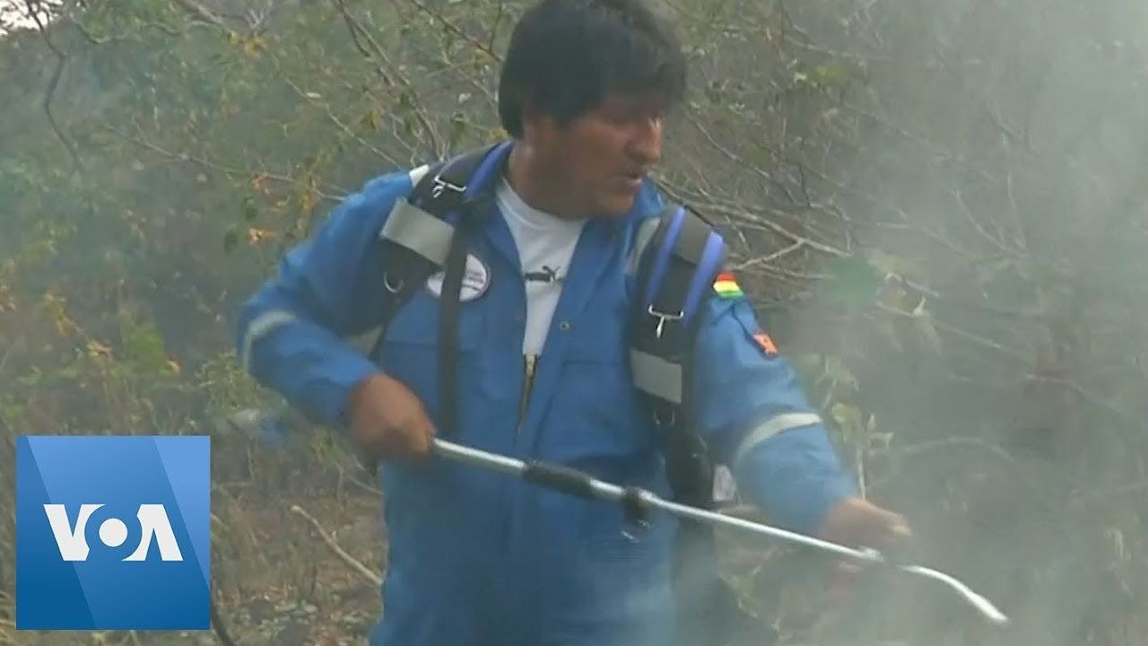 President Evo Morales Joins Firefighters to Battle Wildfires in Bolivia